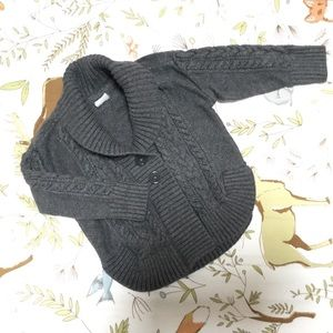 Grey Cable Knit Heavyweight Cardigan
